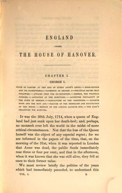 England under the house of Hanover :its history and condition during the reigns of the three Georges : illustrated from the caricatures and satires of the day. 1