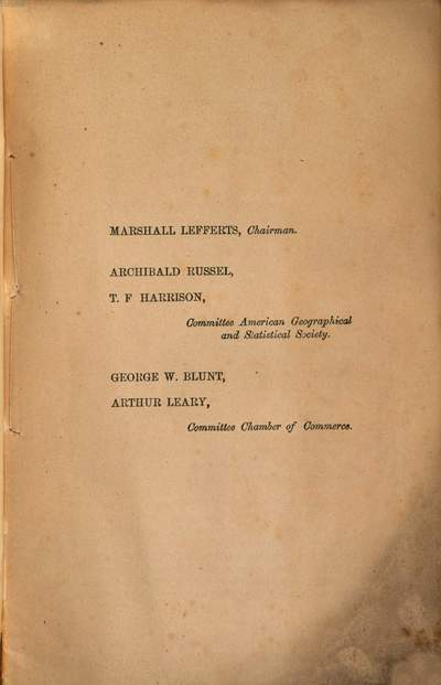 Report of the joint special committees of the chamber of commerce and american geographical and statistical society on the extension of the decimal system to weights and measures of the United States :1857