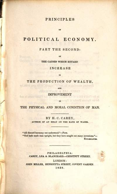 Principles of political economy. 2, Part the second of the causes which retard increase in the production of wealth and improvement in the physical and moral condition of man