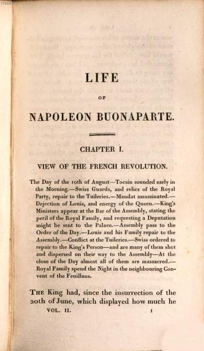 ˜Theœ life of Napoleon Buonaparte, emperor of the French :with a preliminary view of the French revolution ; in nine volumes. 2