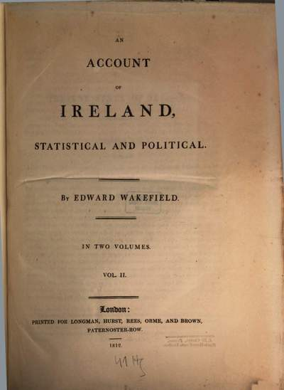 ˜Anœ account of Ireland, statistical and political :in two volumes. 2