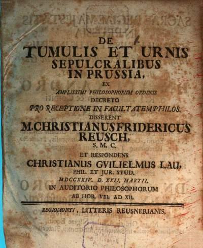 De tumulis et urnis sepulcratibus in Russia