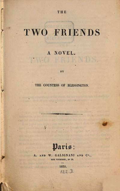 ˜Theœ two friends :a novel
