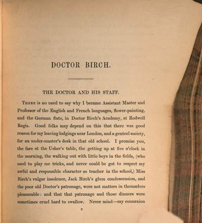 Doctor Birch and his young friends :By M. A. Titmarsh