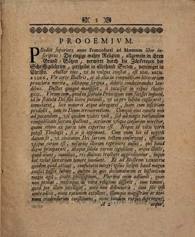 Doctrina de sacramentis N. T. thetice et polemice contra auctorem illustrem libri: Die einzige wahre Religion
