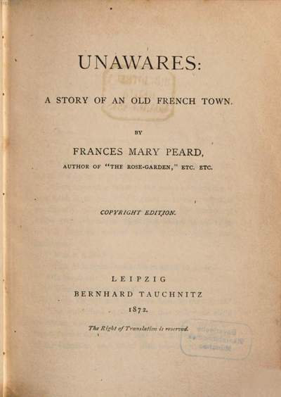 Unawares :a story of an old French town