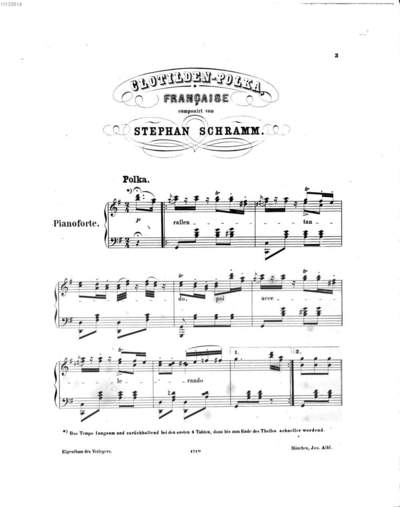 Clotilden-Polka française :für Pianoforte