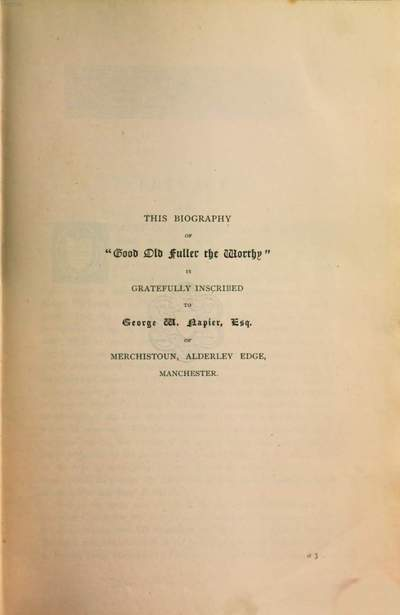 ˜Theœ Life of Thomas Fuller :With notices of His Books, His Kinsmen, and His Friends