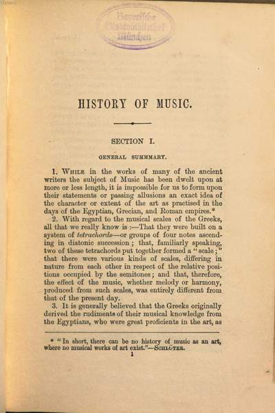 ˜Aœ Concise History of Music from the commencement of the Christian Era to the present time :For the Use of Students. By H. G. Bonavia Hunt