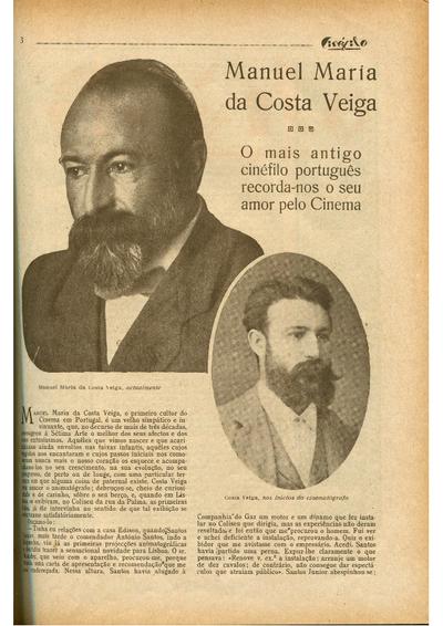Manuel Maria da Costa Veiga. O mais antigo cinéfilo português recorda-nos o seu amor pelo cinema