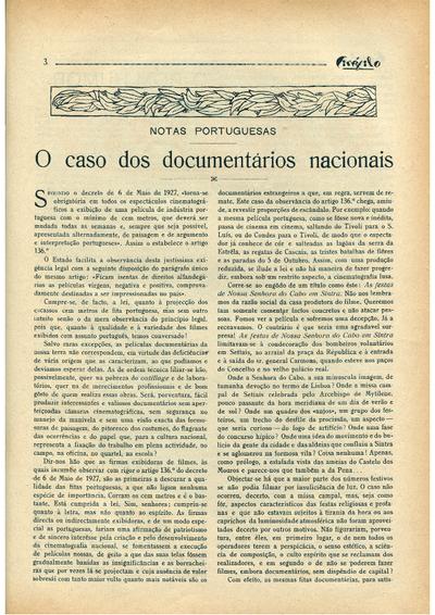 O caso dos documentários nacionais