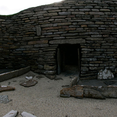 Panoramic Photography of House 1, Skara Brae