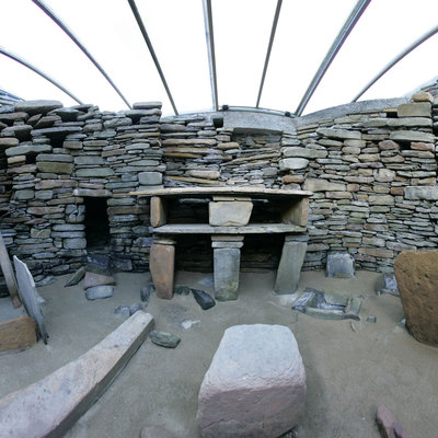 Panorama Movie of House 7, Skara Brae