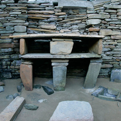 Panoramic Photography of House 7, Skara Brae