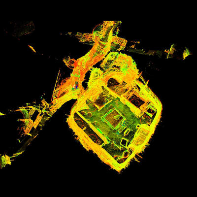 LiDAR Scan of House 1, Skara Brae