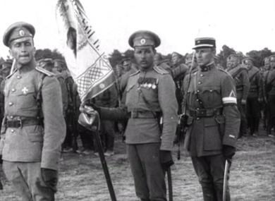 Avec l'Armée russe en Champagne.