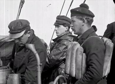 Les vainqueurs du combat livré devant Dunkerque le 21 mars 1918 avant le jour