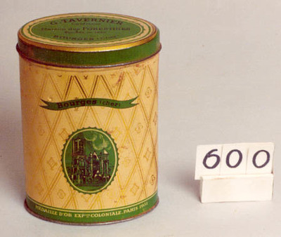 Ovale doos voor G.TAVERNIER;Maison des FORESTINES BOURGES