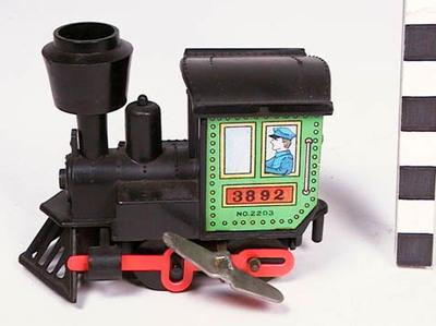 Locomotief met opwindmechanisme