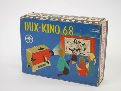 Filmprojector Dux Kino met 5 films van sprookjes in doos