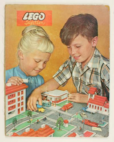 Grondplaat met straten, wegen voor Lego dorp