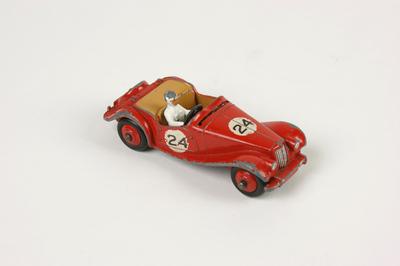 Dinky toys raceauto M.G. Midget met bestuurder, nr. 108
