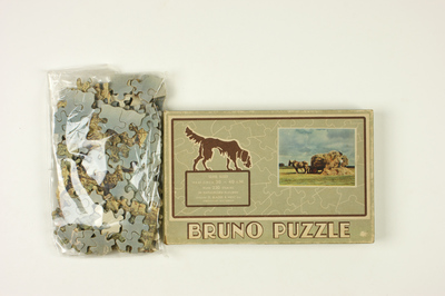 Bruno puzzel, serie 5000, plaat nummer 12 van hooien op het land