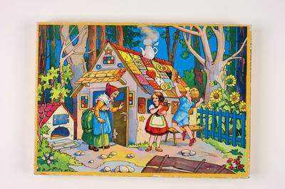 Puzzel Hans en Grietje bij het huisje van de heks