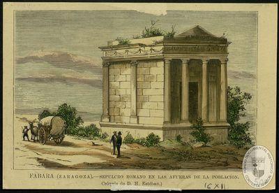 Fabara (Zaragoza) [Material gráfico]: Sepulcro romano en las afueras de la población