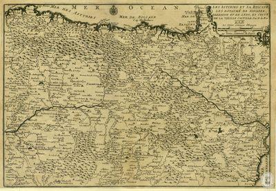 Les Asturies et la Biscaye, les royaume de Navarra, D'Arragon et de Leon, et celuy de la vieille Castille [Material cartográfico]