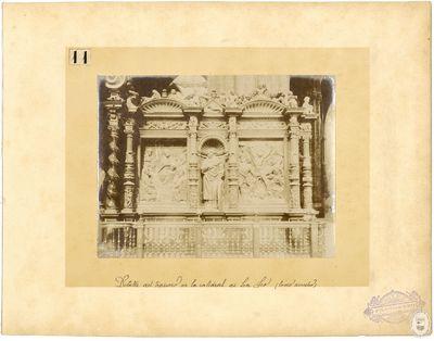 Detalle del trascoro de la Catedral de La Seo [Material gráfico] : (lado derecho)