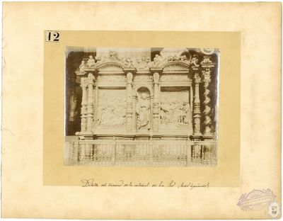 Detalle del trascoro de la Catedral de La Seo [Material gráfico] : (lado izquierdo)