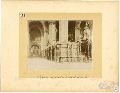 Izquierda del trascoro de la catedral de La Seo [Material gráfico]
