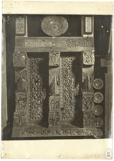[Panel perteneciente al friso de las ménsulas procedente del Salón del Trono de la Aljafería] [Material gráfico]