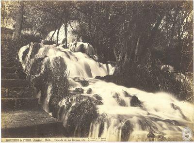 Monasterio de Piedra (Aragón) [Material gráfico] : 1634 : Cascada de los fresnos, alta