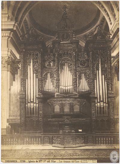 Zaragoza [Material gráfico] : 1750 : Iglesia de Ntra Sra del Pilar : Los órganos del Coro