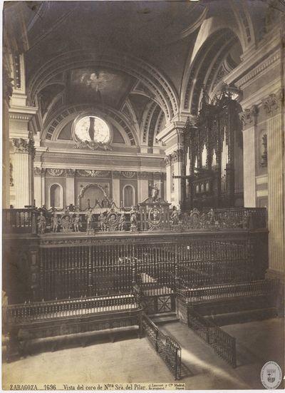 Zaragoza [Material gráfico] : 1696 : Vista del coro de Ntra Sra del Pilar