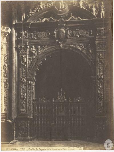 Zaragoza [Material gráfico] : 1762 : Capilla de Zaporta en la iglesia de la Seo