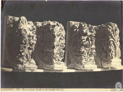 ZARAGOZA [Material gráfico] : 1739 : Museo provincial : Canecillos de alero de tejado, estilo ojival