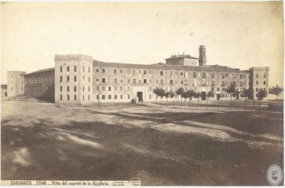 Zaragoza [Material gráfico] : 1748 : Vista del cuartel de la Aljafería