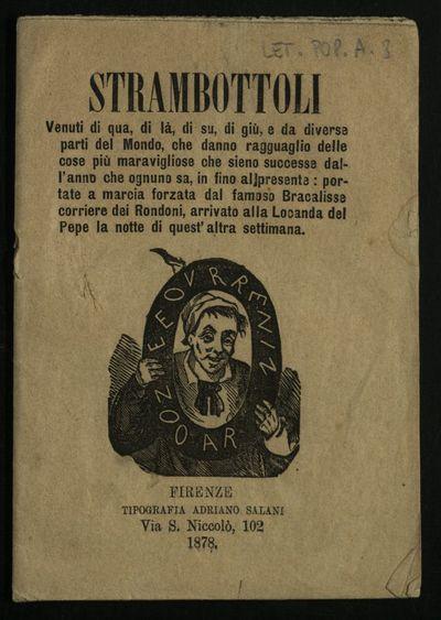 Strambottoli : venuti di qua, di là, di su, di giù, e da diverse parti del mondo ...