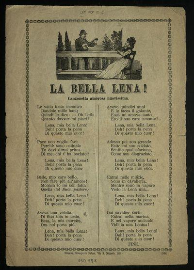 La bella Lena : canzonetta amorosa nuovissima