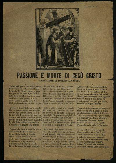Passione e morte di Gesù Cristo : composizione di Lorenzo Luchetti