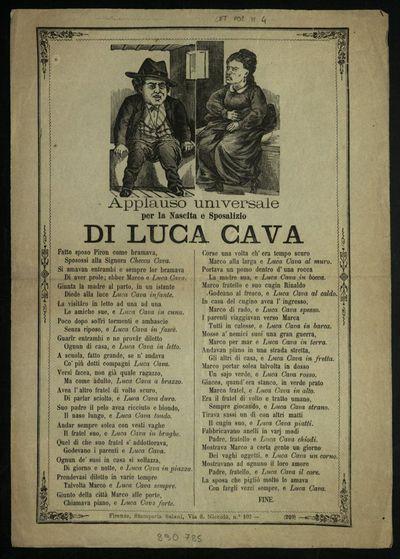 Applauso universale per la nascita e sposalizio di Luca Cava