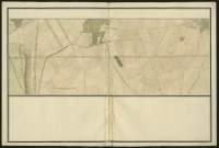 Atlas de Trudaine pour la généralité d'Alençon. Grande route de Paris à Caen par Lizieux depuis le château de Graveron jusqu'au pont de Dive. Portion de route à hauteur de Fumichon, passant non loin de La-Cambe (La-Cambre), et allant jusqu'à hauteur de Bouquelon.