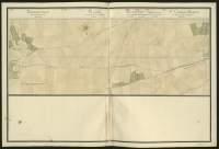 Atlas de Trudaine pour la généralité d'Alençon. Grande route de Paris à Caen par Lizieux depuis le château de Graveron jusqu'au pont de Dive. Portion de route entre Boisney (Boisnay) et Le-Marché-Neuf.