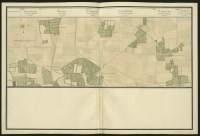 Atlas de Trudaine pour la généralité d'Alençon. Grande route de Paris à Caen par Lizieux depuis le château de Graveron jusqu'au pont de Dive. Portion de route d'en-deçà du relais de poste de Duranville et le hameau de La-Buisssonnière (La-Bissonière).