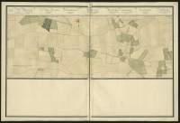 Atlas de Trudaine pour la généralité d'Alençon. Grande route de Paris à Caen par Lizieux depuis le château de Graveron jusqu'au pont de Dive. Portion de route longeant Le-Teil-Nolent jusqu'à hauteur de Folleville et Duranville.