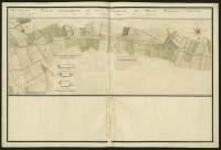 Atlas de Trudaine pour la généralité d'Alençon. Grande route de Paris à Caen par Lizieux depuis le château de Graveron jusqu'au pont de Dive. Portion du chemin de Lisieux à Caen, d'en-deçà le poteau où commence la généralité de Rouen jusqu'à un peu au-delà du hameau de La-Boissière (La-Bossière).