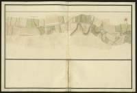 Atlas de Trudaine pour la généralité d'Alençon. Grande route de Paris à Caen par Lizieux depuis le château de Graveron jusqu'au pont de Dive. Portion de route longeant le hameau de Cantepie jusqu'à Saint-Laurent-du-Mont.
